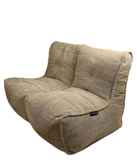 Bean Bag Settee by The Jute Chair Bean Bag Chair Allows You To Sit Low And