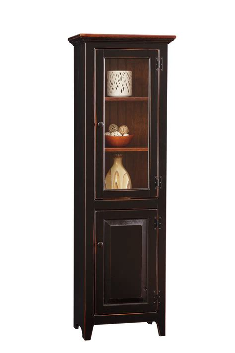 large pine chimney cupboard  dutchcrafters amish furniture
