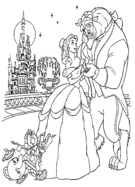 beauty   beast coloring pages  print az coloring