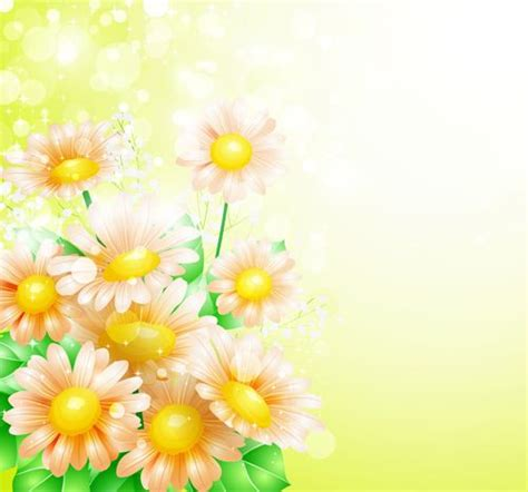 shiny spring flowers creative background vector 04 vector background free download r 225 miky