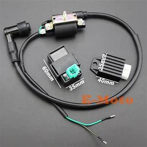 Ignition Coil Cdi Box Regulator Rectifier For 50cc 70cc