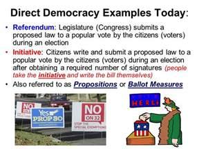 Direct Democracy Examples