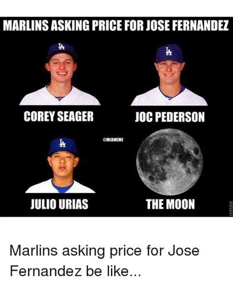 Jose Fernandez Meme - marlins asking price for jose fernandez corey seager joc pederson mlbmeme the moon julio urias