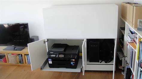 Organize Kitchen Ideas - printer stand ikea a smart solution to organize your printer homesfeed