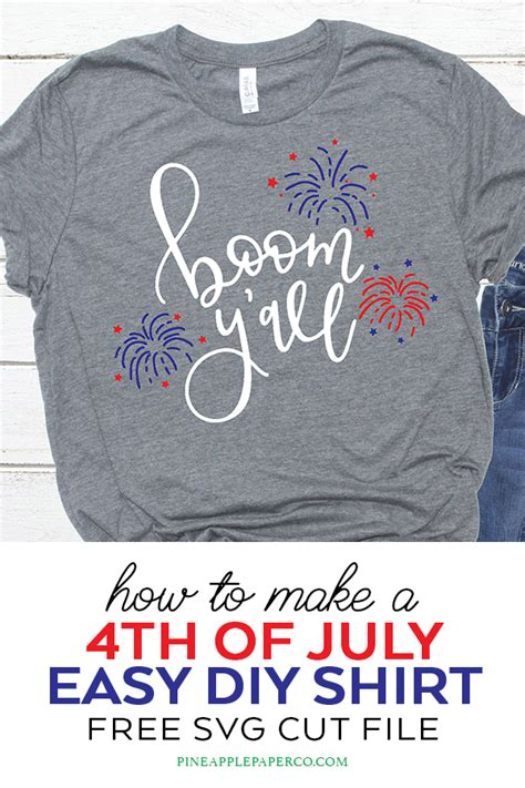 Free 4th of july svg cut files for cricut and silhouette. Free 4th of July SVG File - Boom Y'all SVG Cut File ...