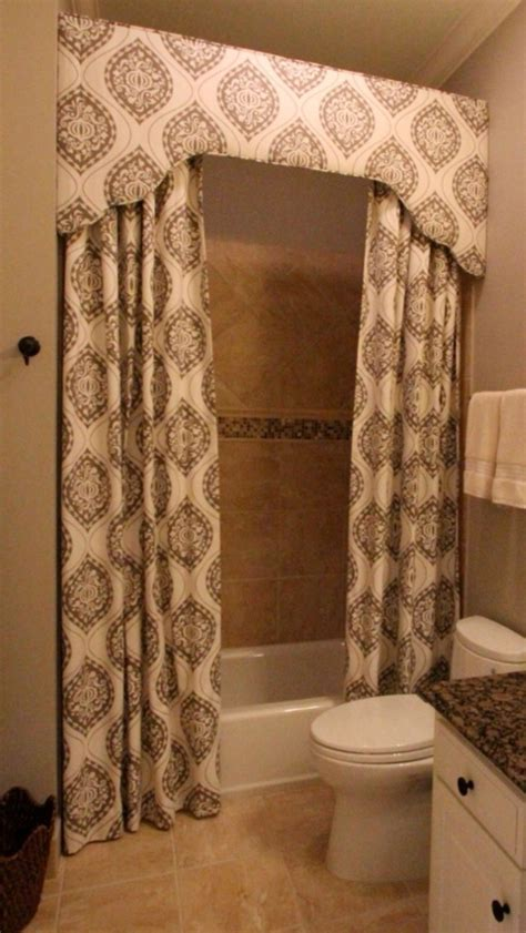 Custom Shower Curtain And Cornice @camille Moore