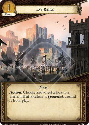 lay siege lay siege thronesdb