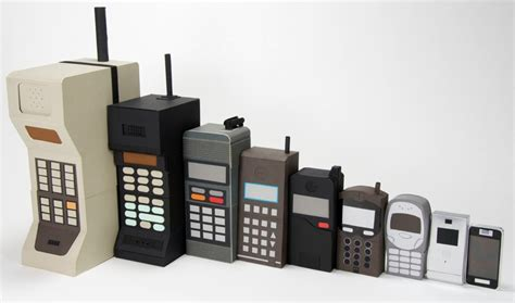 cell phones evolution of the cell phone depicted in papercraft