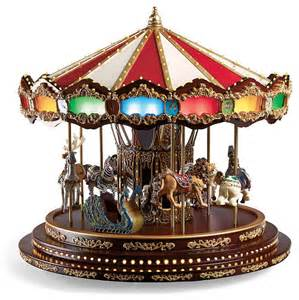 deluxe christmas carousel frontgate christmas decorations traditional holiday