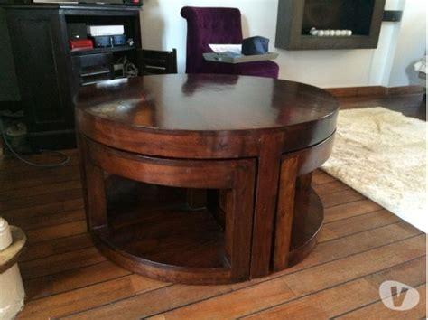 table cuisine bois exotique table ronde en bois exotique en clasf maison jardin