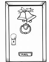 Door Christmas Coloring Pages Printable Open Doors Decorations Template Decorated Closed Ornaments Window 894px 86kb sketch template