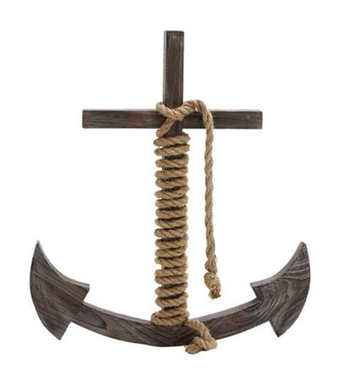 Decorative Anchors by Decorative Wooden Christian Anchor Globe Imports