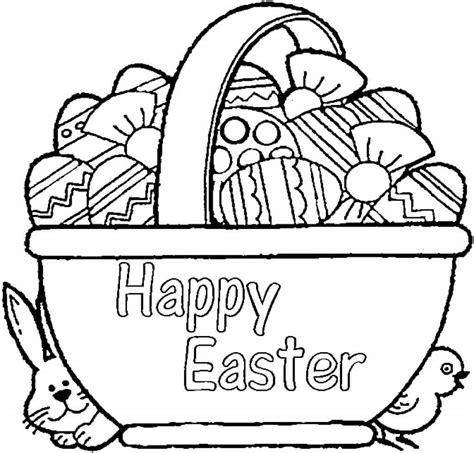 easter basket coloring pages free easter basket coloring pages printable