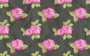 Pink rose pattern on a fabric wallpaper - Photography ...