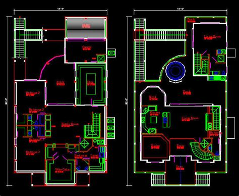 Cad Building Template  Us House Plans  House Type 4