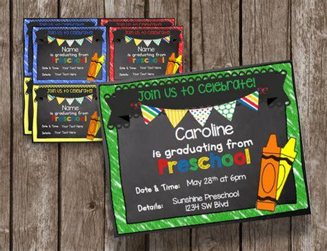 preschool graduation invitation 28 examples of graduation invitation design psd ai 86684