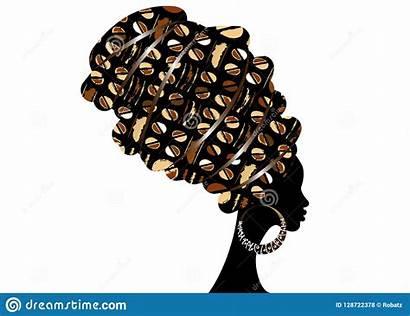 Vector Head Wrap Woman Silhouette African Turban