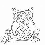 Owl Coloring Clipart Domain Colour sketch template