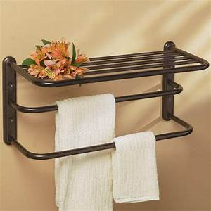 bathroom shelf with towel bar home decorations With bathroom towel racks and shelves