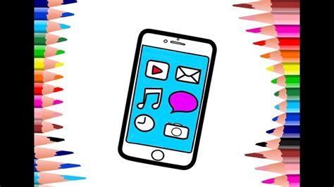 Coloring Mobil by Color Mobile Phone Coloring Book And Drawing For