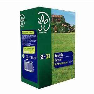 Anti Mousse Pelouse Sans Sulfate De Fer : engrais 2 en 1 gazon anti mousse 3 5 kg gamm vert ~ Dailycaller-alerts.com Idées de Décoration