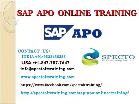 Sap Apo Online Training In South Africa