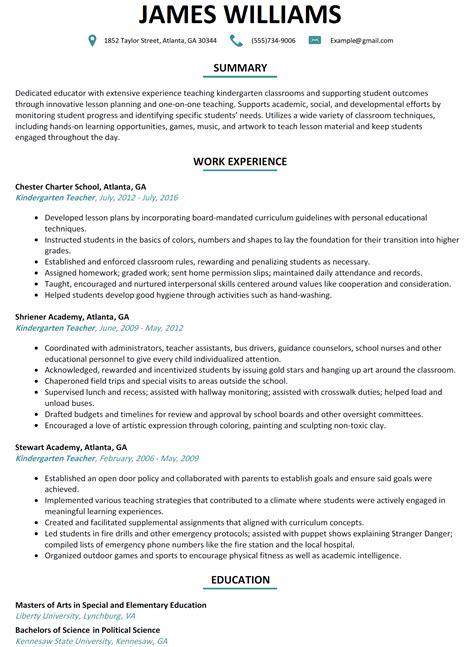 Download Preschool Teacher Resume Sample Examples