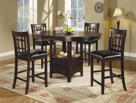 bar dining table set bar height dining set feel the home