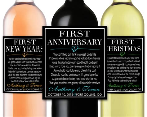 marriage firsts milestones poems wedding gift wine champagne