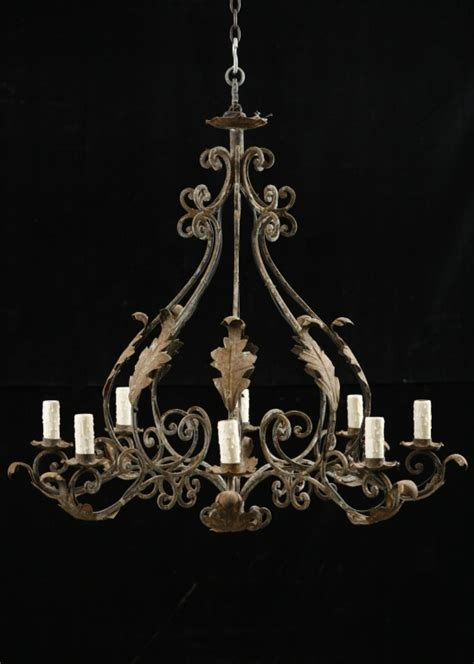 italian antique wrought iron 8 light chandelier antiques