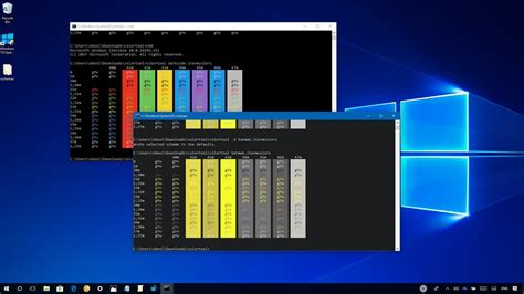 how to change command prompt s color scheme on windows 10