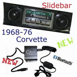 1968 69 70 71 72 73 74 75 76 Corvette New Slidebar Radio  U0026 Bluetooth Kit