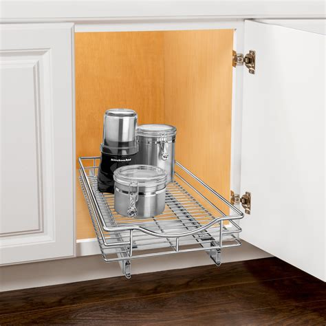 under cabinet pull out shelf lynk roll out cabinet organizer pull out drawer under