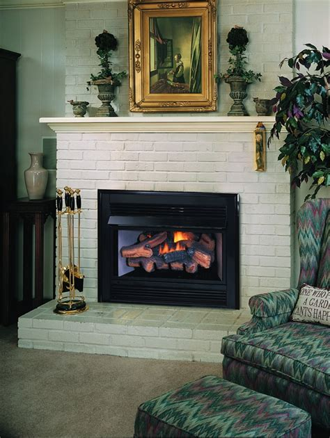 fireplace gas inserts fireplaceinsert vantage hearth vent free gas fireplace