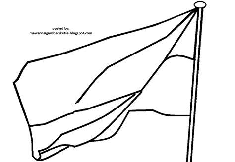 kumpulan gambar sketsa bendera indonesia aliransket