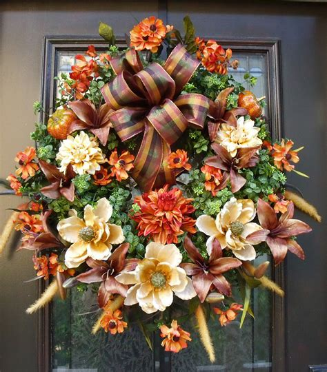 fall door wreaths to make reserved listing for carrie fall wreaths autumn wreath