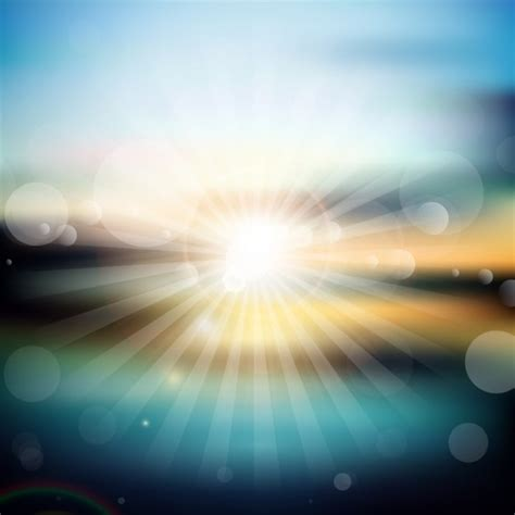 bright sunset background  bokeh style vector