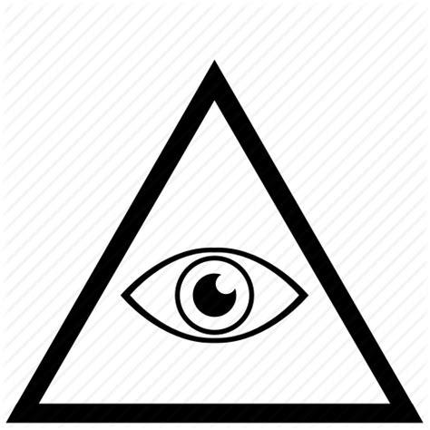 Illuminati Triangle Eye Border Eye Frame Illuminati Triangle Icon