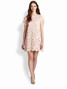 Bcbgmaxazria Floral Lace Dress in Pink (DUSTY PINK) | Lyst