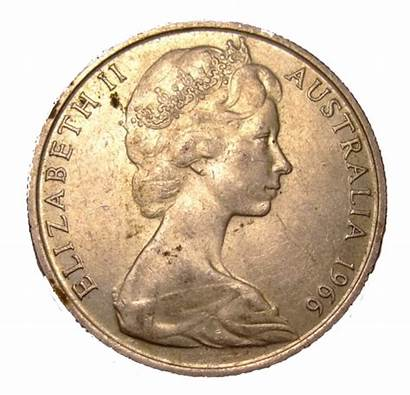 Cent Coin Round 1966 Obverse Australian Fifty
