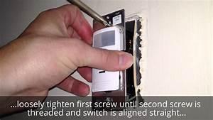 Leviton Decora Motion Sensor Install