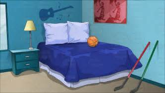 adolescent boys bedroom background cartoon clipart