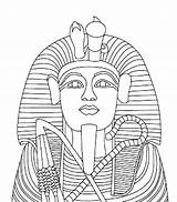 Coloring King Tutankhamun Zum Masque Coffin Egypt Egipto Antiguo Dibujos Statue Egyptian Colorear Ausmalen Pharao Toutankhamon Ancient Anmalen Tutankhamen Faraon sketch template