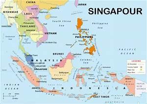 Singapour sur carte du monde | Trouver des idées pour ...