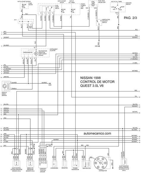 nissan 1998 diagramas esquemas graphics vehiculos motores mecanica automotriz