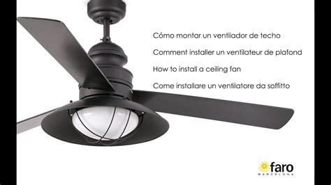c 243 mo instalar un ventilador de techo how to install a ceiling fan