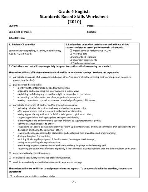 worksheets grade 4 english 16 best images of 4 grade grammar worksheet identifying adjectives worksheet 4th grade 4