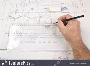 People At Work  Architect  Drawing Up Plans For A House