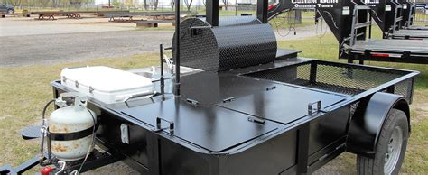 build custom pit bbq pit trailers custom built gooseneck trailers