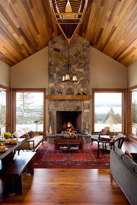 small mountain home coeur dalene mountain architects